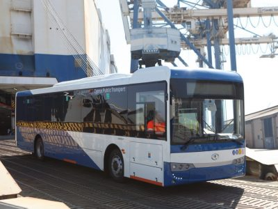 Over 200 buses for new public transport fleet arrive in Cyprus