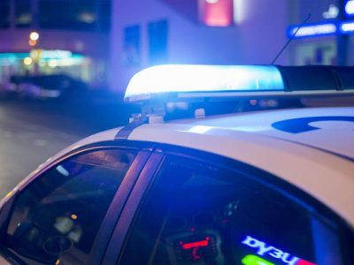 Driver arrested after refusing to stop, ramming police car