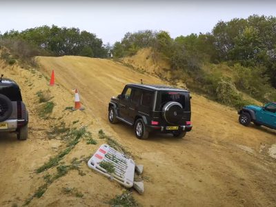 Defender vs. Wrangler vs. G-Class Off-Road Challenge Ends With Two Losers