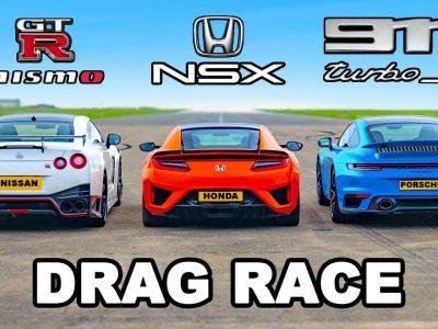 GT-R Nismo Vs NSX Vs 911 Turbo S. Ποιο είναι γρηγορότερο στην ευθεία;